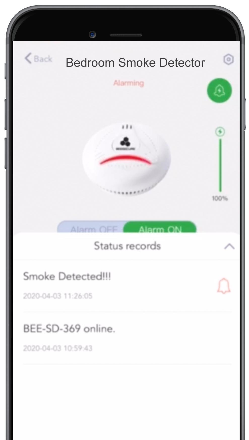 smoke detector, app control