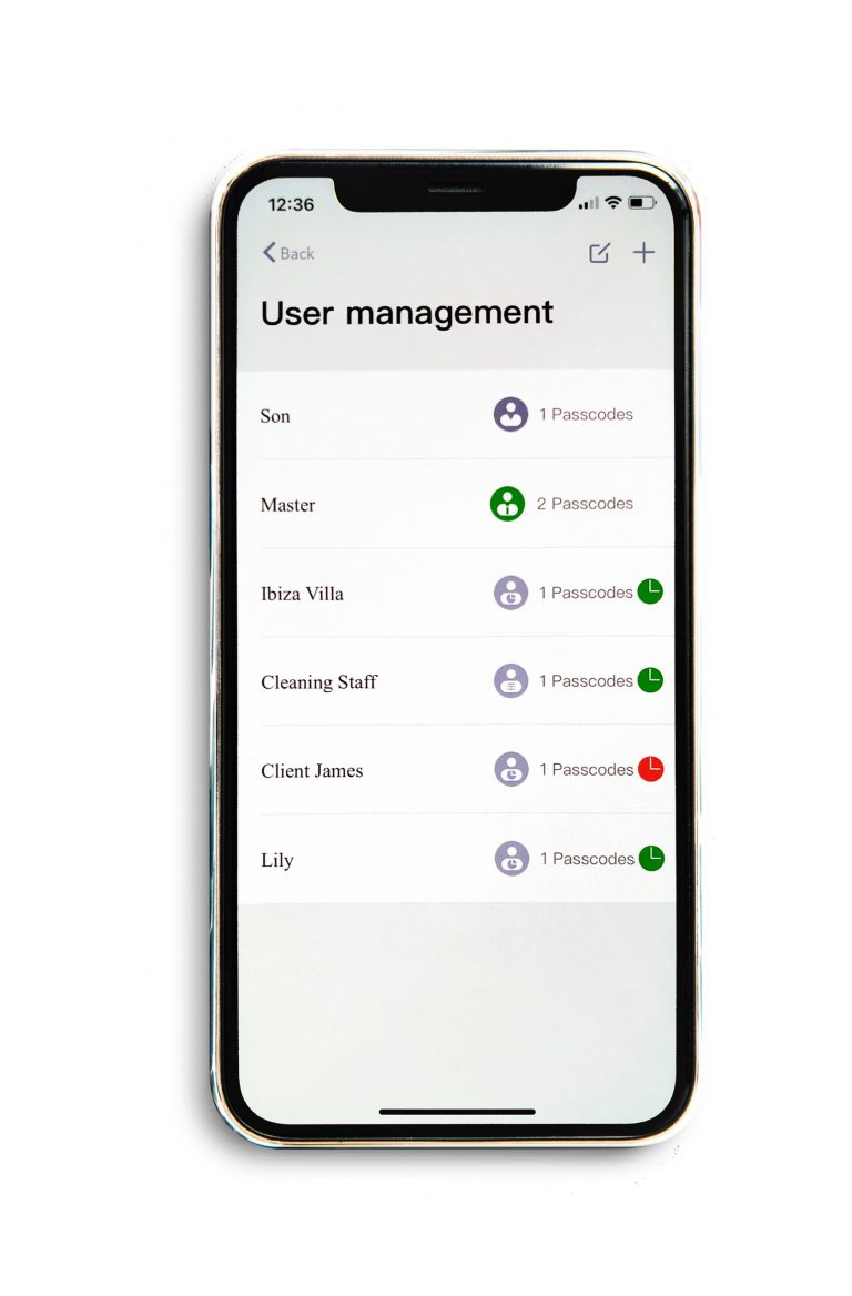 screenshot of user management