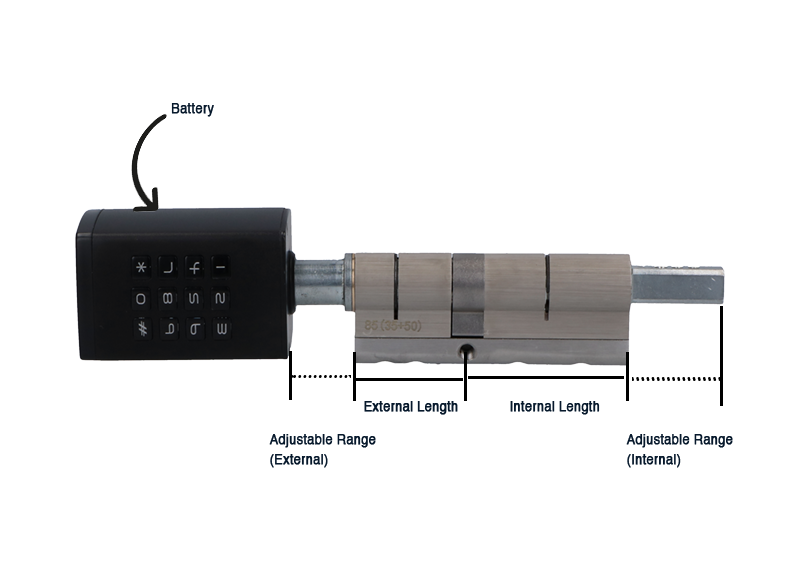 Beelock-P1 adjustable cylinder length